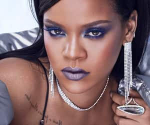 beautiful, makeup, and rihanna image