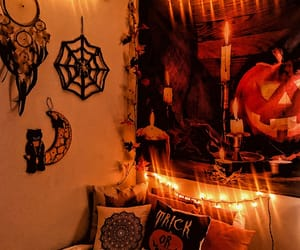 bedroom, fall, and Halloween image