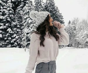 girls, outfit, and snow image
