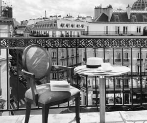 black and white, france, and paris image