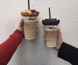 chocolate, coffee, and donuts image
