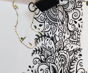 art, drawing, and wall mural image