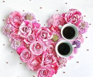love, coffee, and heart image