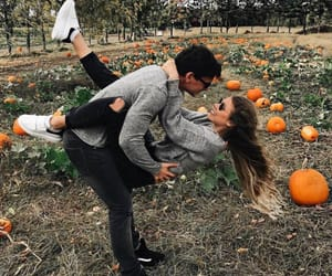 couple, love, and autumn image