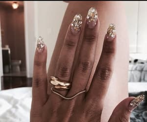 gold, nails, and golden image