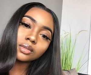 eyelashes, highlight, and lips image