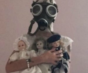 dolls, mask, and pink image