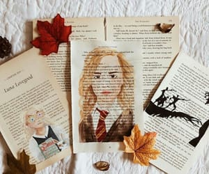 art, books, and fall image
