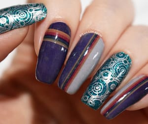 doctor who, nerd nails, and nail art image