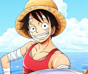 anime, luffy, and cute image
