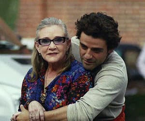 carrie fisher, poe dameron, and gif image