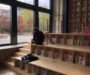 autumn, books, and building image