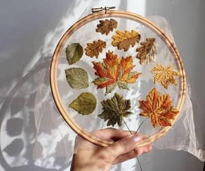 autumn, fall, and embroidery image