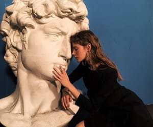 art, girl, and statue image