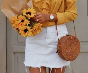 flowers, yellow, and fashion image