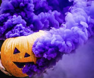 pumpkin, Halloween, and purple image