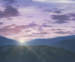 anime, light, and moon image