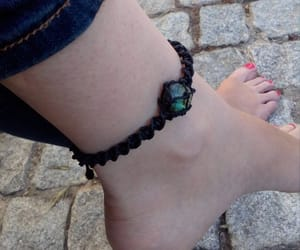 crystal jewelry, healing crystal, and macrame anklet image