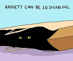 anxiety, awareness, and black cat image