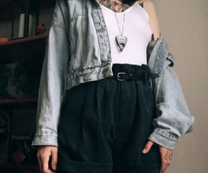 amazing, denim jacket, and fashion image