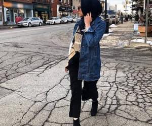 oversized jean jacket image