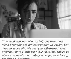 black and white, quotes, and lily collins image