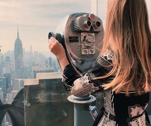 girl, new york, and photography image