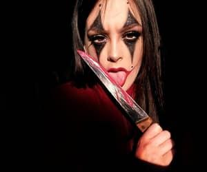clown, clown makeup, and halloween makeup image