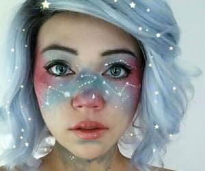 makeup, Halloween, and galaxy image