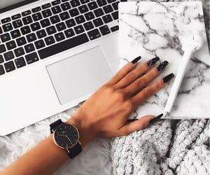 nails, black, and girls image