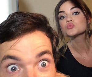 pretty little liars, ian harding, and lucy hale image