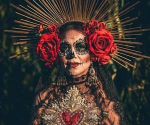 crown, dia de muertos, and flower image