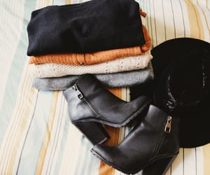 autumn, booties, and mustard image