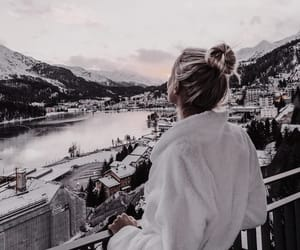 girl, travel, and snow image