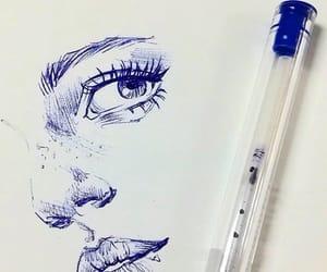 arte, azul, and dibujo image