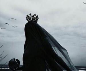 black, goth, and Queen image