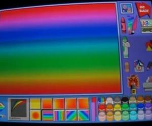 aesthetic, rainbow, and nostalgia image