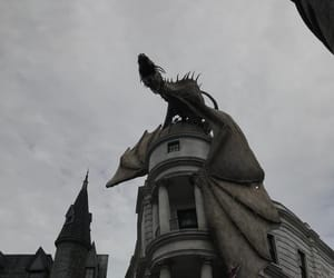 dragon, harry potter, and grey image