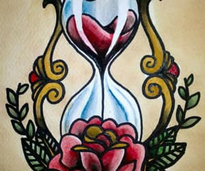 hour glass, tattoo, and Tattoos image
