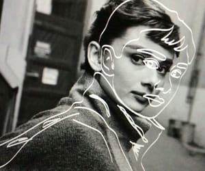 audrey hepburn, art, and black and white image
