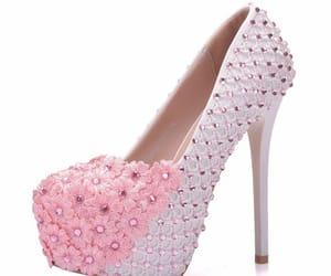 rhinestone, lace flower, and round toe image