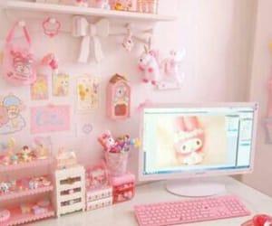 pink, room, and kawaii image