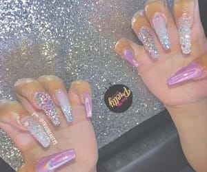 glam, glitter, and holographic image