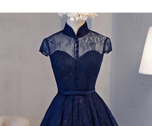 navy blue prom dresses, homecoming dress lace, and navy homecoming dress image