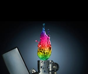 color, dope, and flames image