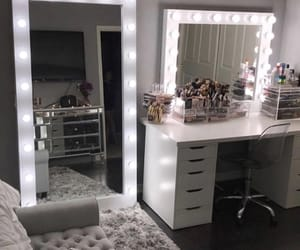 mirror, room, and lights image