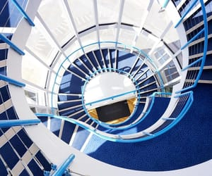 blue, stairs, and stairway image