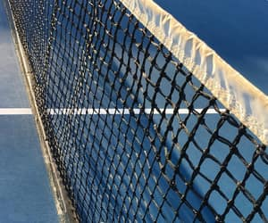 blue, tennis, and tennis court image