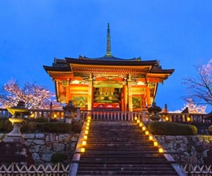 japan, travel, and illumination image