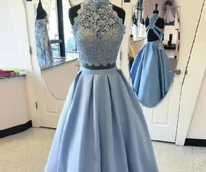 lace prom dress, prom dress long, and prom dress two piece image